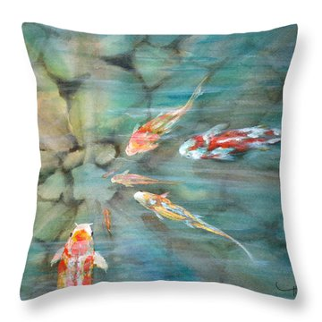 Something Fishy Throw Pillow by Mohamed Hirji