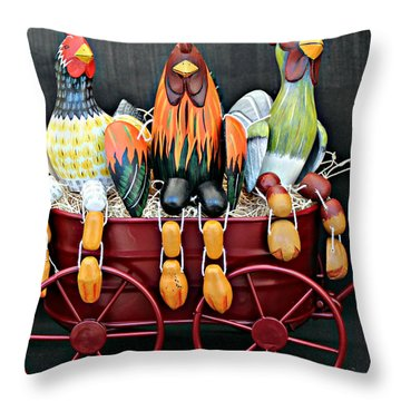 Throw Pillow featuring the photograph Something To Cluck About by Jo Sheehan