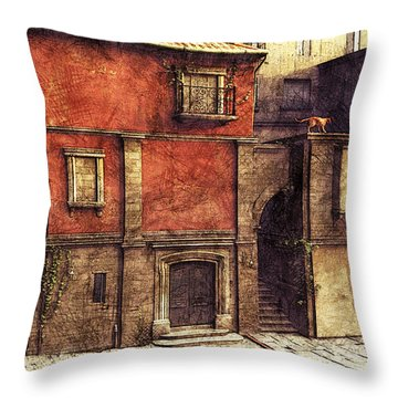 Somewhere In The South Throw Pillow by Jutta Maria Pusl