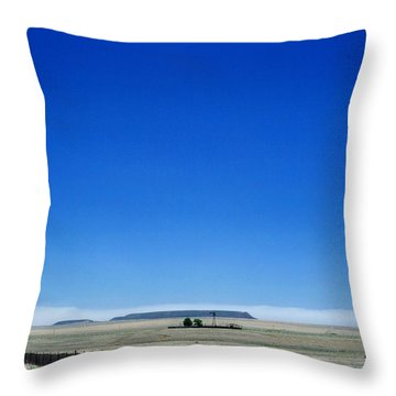 Throw Pillow featuring the photograph Somewhere On Hwy 285 Number One by Lon Casler Bixby
