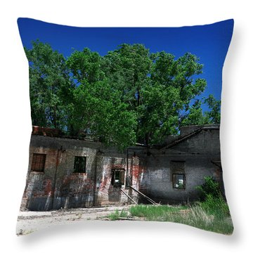 Throw Pillow featuring the photograph Somewhere On Hwy 285 Number Three by Lon Casler Bixby