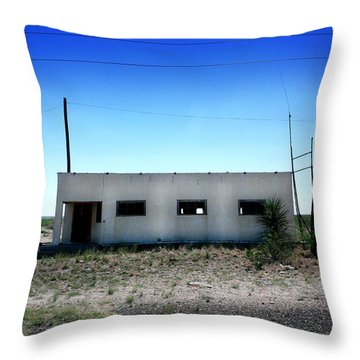 Throw Pillow featuring the photograph Somewhere On The Old Pecos Highway Number 1 by Lon Casler Bixby