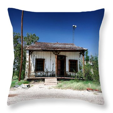 Throw Pillow featuring the photograph Somewhere On The Old Pecos Highway Number 3 by Lon Casler Bixby