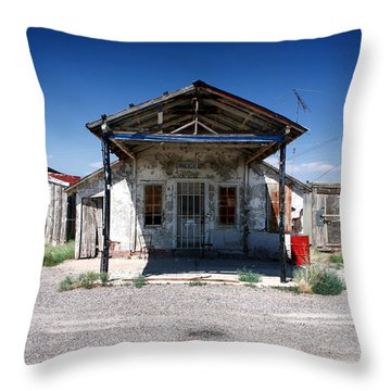Throw Pillow featuring the photograph Somewhere On The Old Pecos Highway Number 4 by Lon Casler Bixby