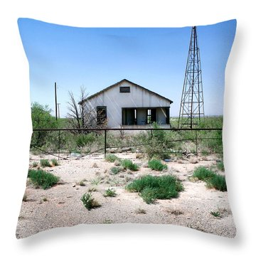 Throw Pillow featuring the photograph Somewhere On The Old Pecos Highway Number 5 by Lon Casler Bixby