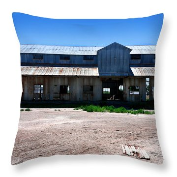 Throw Pillow featuring the photograph Somewhere On The Old Pecos Highway Number 6 by Lon Casler Bixby