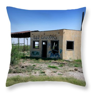 Throw Pillow featuring the photograph Somewhere On The Old Pecos Highway Number 7 by Lon Casler Bixby