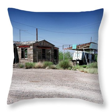Throw Pillow featuring the photograph Somewhere On The Old Pecos Highway Number 8 by Lon Casler Bixby
