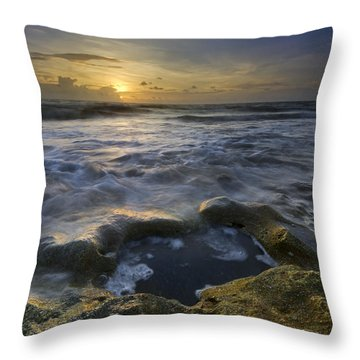 Song Of The Sea Throw Pillow by Debra and Dave Vanderlaan