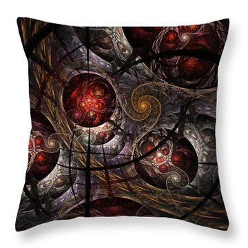Throw Pillow featuring the digital art Soul Of Osiris by NirvanaBlues