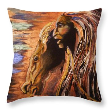 Soul Of Wild Horse Throw Pillow