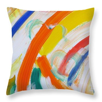Throw Pillow featuring the painting Souls by Sonali Gangane