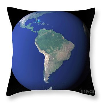 South America Throw Pillow by Stocktrek Images