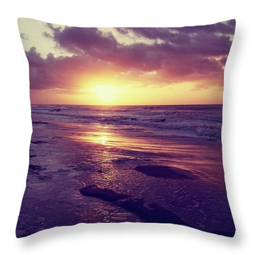 Throw Pillow featuring the photograph South Carolina Sunrise by Phil Perkins