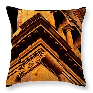 South Corner Of St. Francis Cathedral Throw Pillow by Susanne Still
