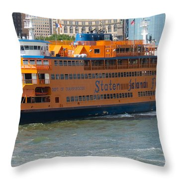 South Ferry Water Ride1 Throw Pillow by Terry Wallace