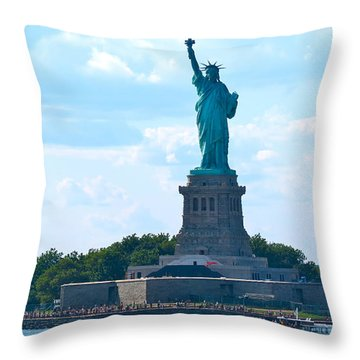 South Ferry Water Ride13 Throw Pillow by Terry Wallace