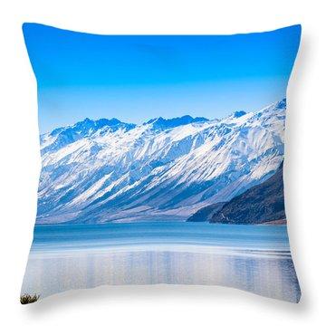 South Island Lake Wanaka New Zealand Throw Pillow by John White