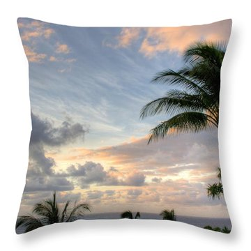 South Seas Sunset Throw Pillow by John  Greaves