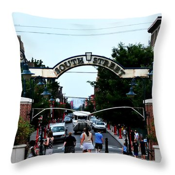 South Street - Philadelphia Throw Pillow by Bill Cannon
