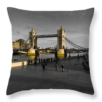 Southbank London  Throw Pillow by David Pyatt