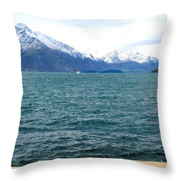 Throw Pillow featuring the photograph Southern Alps Across Lake Wakatipu by Laurel Talabere