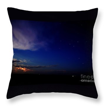 Southern Ocean Storm Throw Pillow by Vicki Ferrari