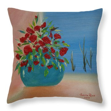 Throw Pillow featuring the painting Southwestern 1 by Judith Rhue