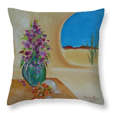 Throw Pillow featuring the painting Southwestern 3 by Judith Rhue