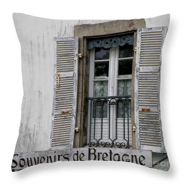 Souvenirs De Bretagne Throw Pillow by Lainie Wrightson