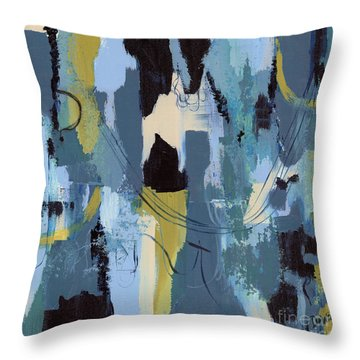 Spa Abstract 1 Throw Pillow by Debbie DeWitt
