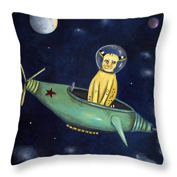 Space Bob Throw Pillow by Leah Saulnier The Painting Maniac