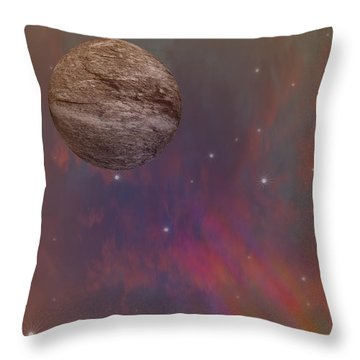 Space Throw Pillow by Brian Roscorla
