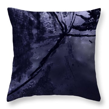 Space Dropping Throw Pillow by John Hansen