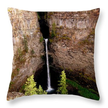 Throw Pillow featuring the photograph Spahats Creek Falls by Kathy Bassett