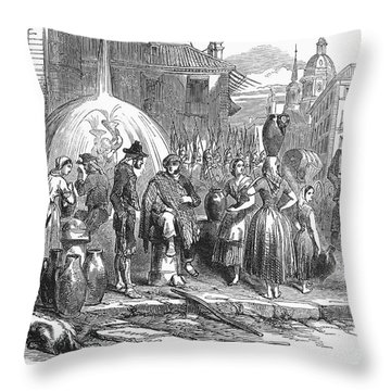 Spain: Madrid, 1848 Throw Pillow by Granger