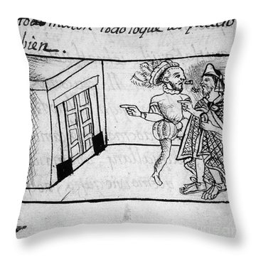 Spanish Conquest Throw Pillow by Granger