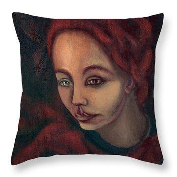 Spanish Ginger  Throw Pillow by Rachel Hershkovitz