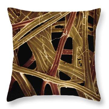 Spanish Moon Moth Cocoon Fibers 105x Throw Pillow by Albert Lleal