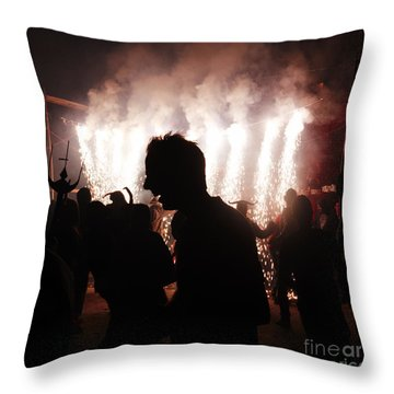 Spark Backlighting Throw Pillow