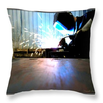 Throw Pillow featuring the photograph Sparks by Danielle  Parent