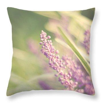 Monkey Flower Throw Pillows