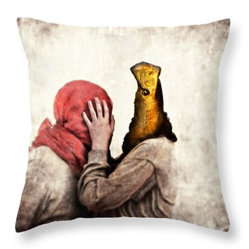 Speak To Me Throw Pillow by Andre Giovina