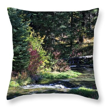 Spearfish Canyon Throw Pillow