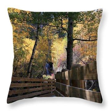 Spearfish Canyon Walkway Throw Pillow