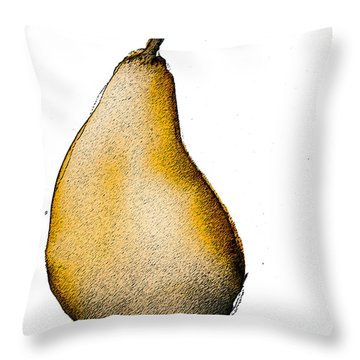 Speckled Pear Throw Pillow by Jani Freimann
