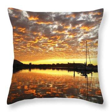 Spectacular Mazatlan Sunset Throw Pillow by Anne Mott