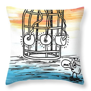 Spectra Chromatic Mix Up Throw Pillow by Jera Sky