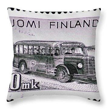 Throw Pillow featuring the photograph Speedy Old Bus by Andy Prendy