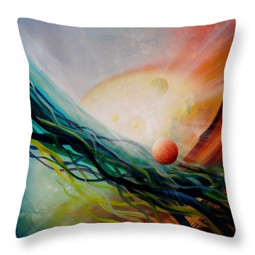 Sphere Gl2 Throw Pillow by Drazen Pavlovic